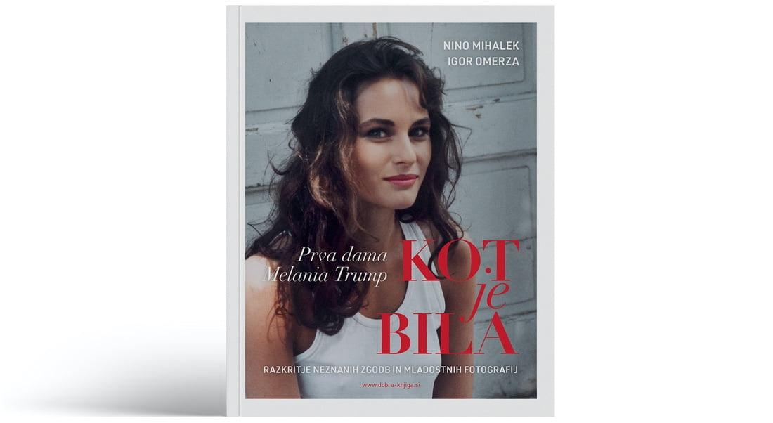 naslovnica knjige s portretom mlda Melanie Trump