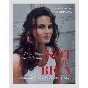 naslovnica knjige s portretom Melanie Trump