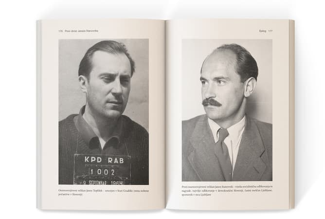 odprta knjiga s portretom Janeza Stanovnika
